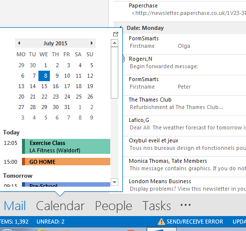 [Outlook Calendar]
