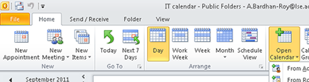 [Outlook  - Calendar - View]