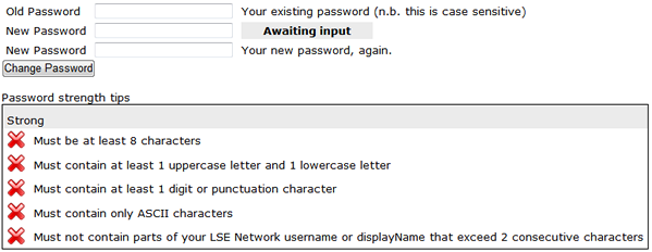 RLAB IT | Help Documents | Change your LSE and RLAB Password