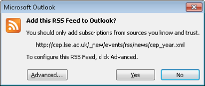 [Outlook, Add this RSS Feed]