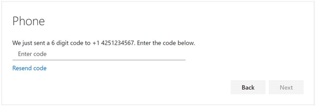 [MFA Phone - enter code message]