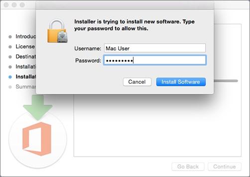 [Image of admin password prompt.  ]
