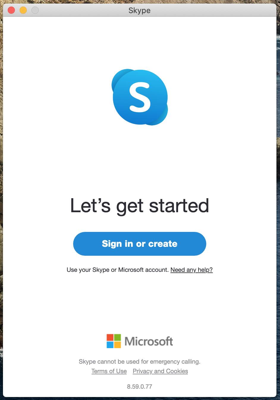 [Skype Sign in]