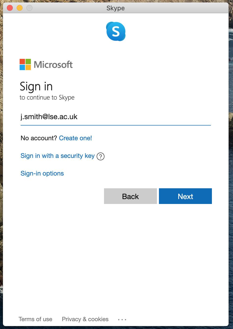 [Skype Sign in username]