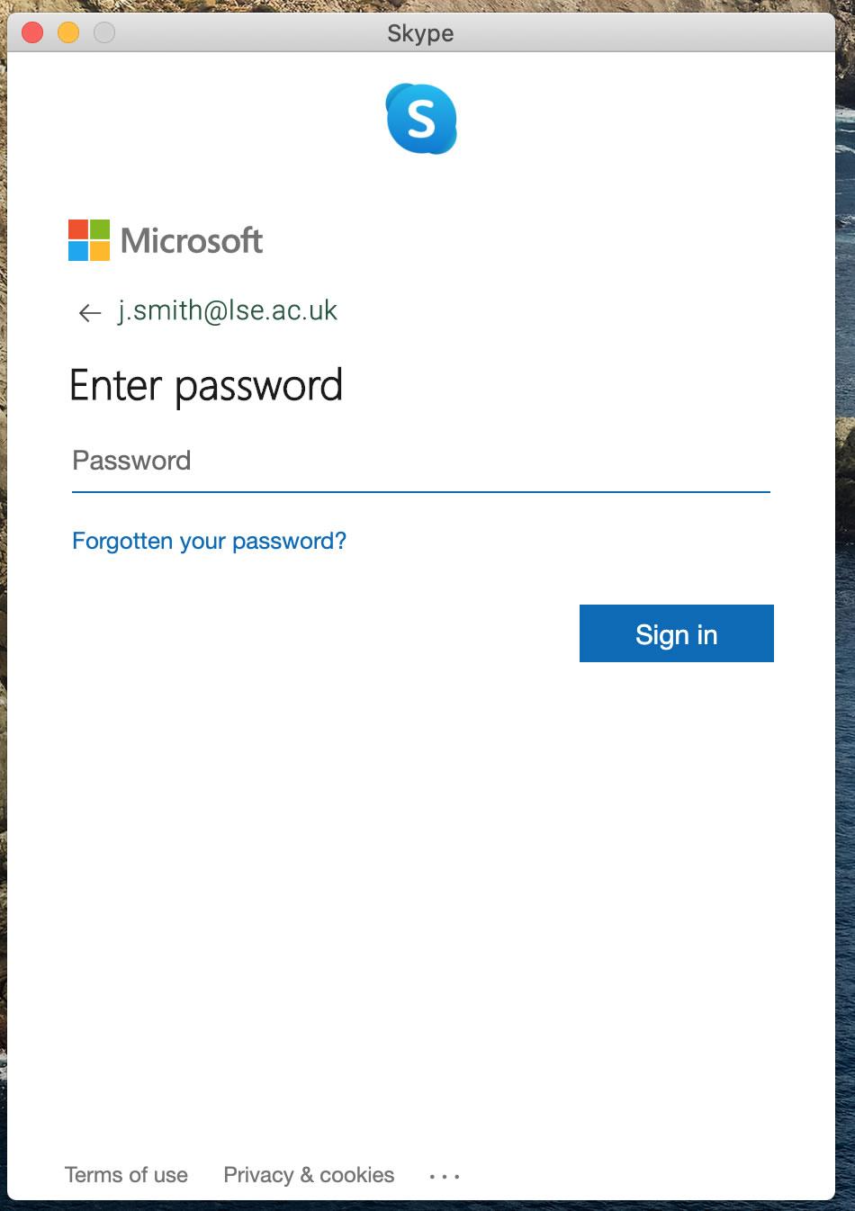 [Skype password]
