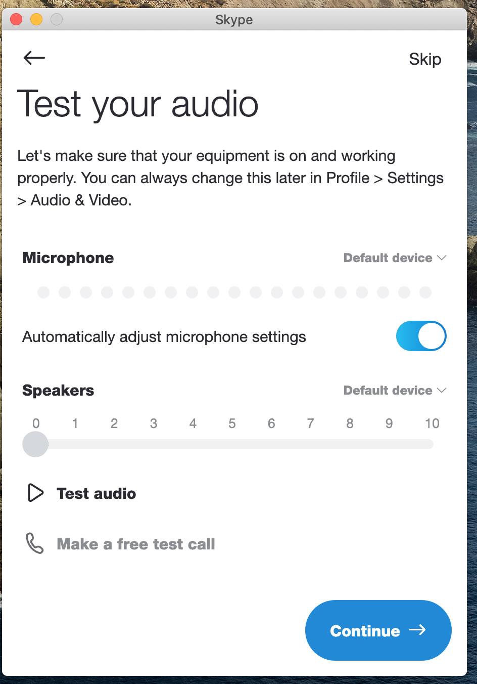 [Skype test your audio ]