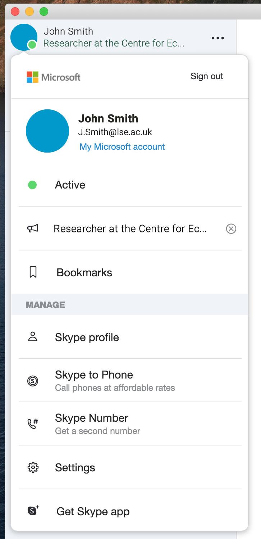 [Skype Profile]