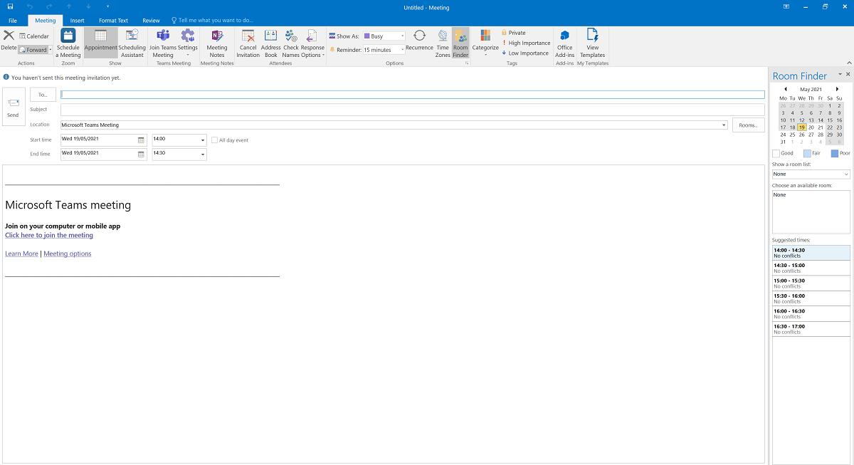 [Picture of TEAMS DIALOG BOX IN OUTLOOK]