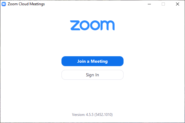 [Picture of ZOOM OPENING SCREEN]